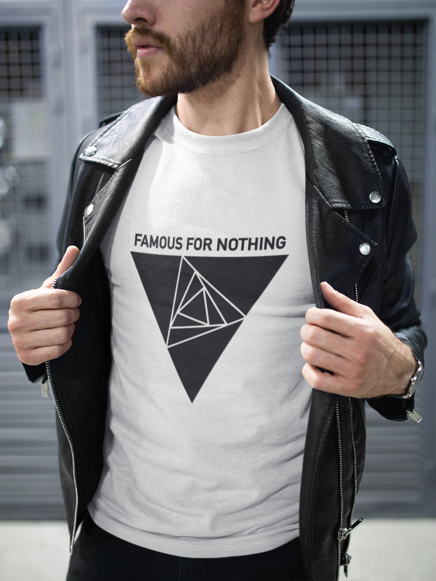Famous For Nothing Logo Sueded Unisex Tee