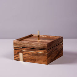 Wooden box with brass - Mad Lab