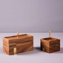 Two wooden boxes with brass - Mad Lab