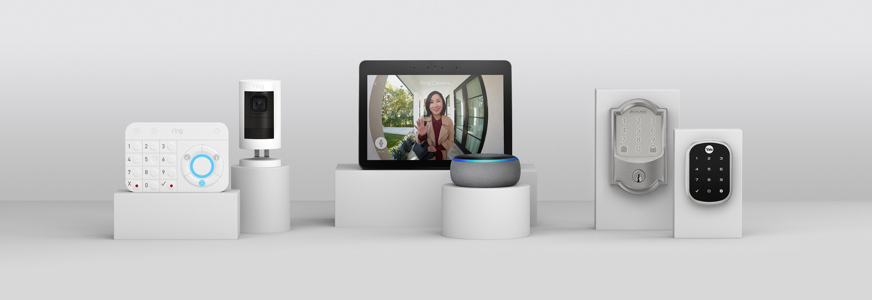 Video Doorbell 3 Plus connects with your Ring of Security & works with Alexa & select smart door locks.