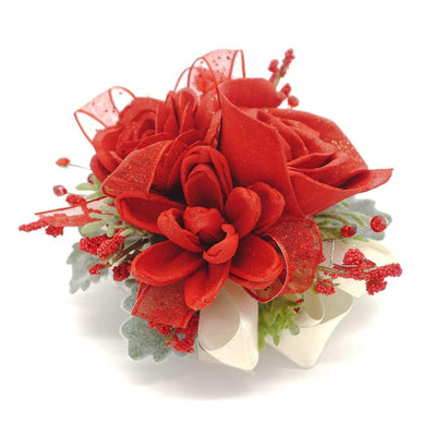 Formal Red Corsage