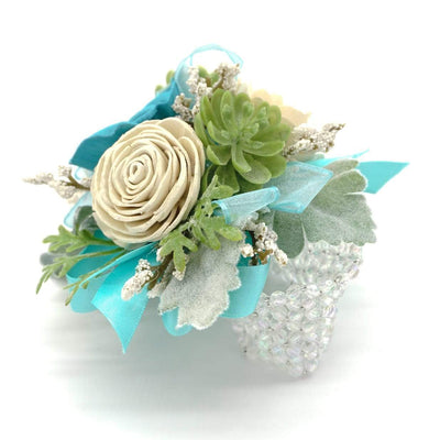 Modern Teal Corsage