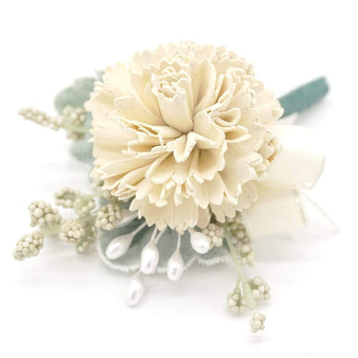 Timeless Cream Boutonniere