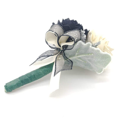 Formal Black Boutonniere