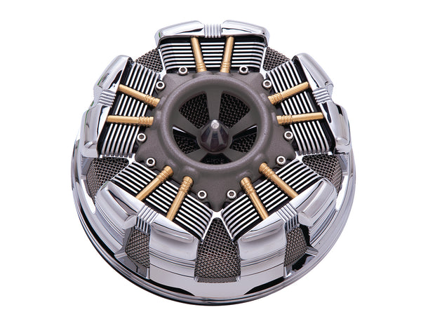 Ciro Radial Air Cleaners For '08-'16 Touring Modes in Chrome or Black