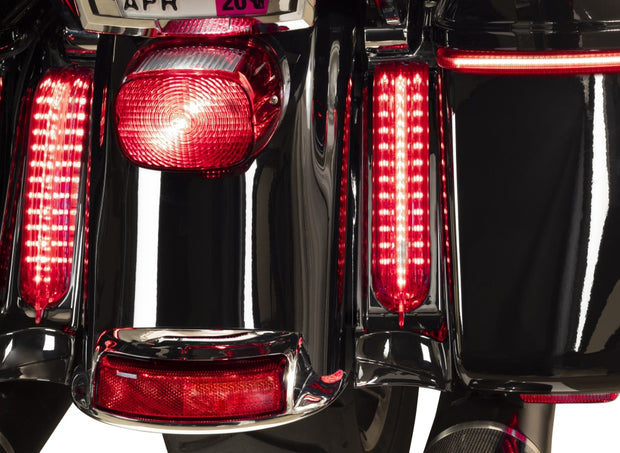 Filler Panel Lights For Ultra And Road King With All Red Leds In Chrome Or Black / Clear 14-Newer