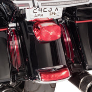 Filler Panel Lights for Ultra and Road King with all RED LEDs in Chrome or Black