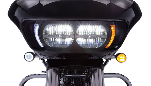 Fang LED Headlight Bezel in Chrome or Black