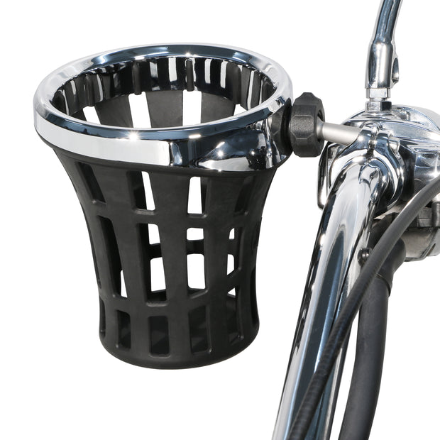 "Big Ass® Drink Holder with 7/8"" & 1"" or 1-1/4"" Aluminum Clamp Mount in Chrome or Black"