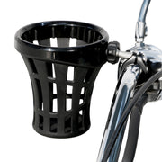 "Big Ass Drink Holder with 7/8"" & 1"" or 1-1/4"" Aluminum Clamp Mount in Chrome or Black"