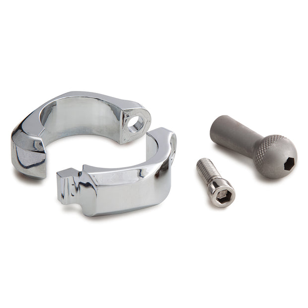 "1-1/4"" Bar Mount Clamp in Chrome or Black"