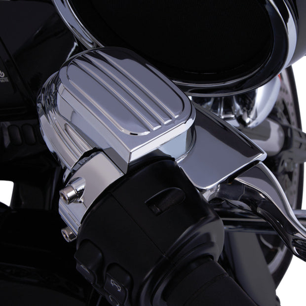 Ciro Master Cylinder Cover in Chrome or Black