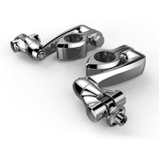 Ciro Hingeless Clamps With Clevis & Peg Mount & Extension Arm in Chrome