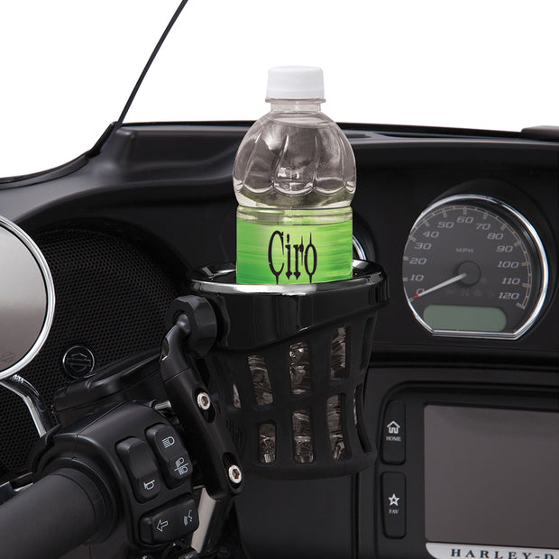 Ciro Drink Holder with Perch Mount in Chrome or Black