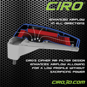 Cipher Air Cleaner For For '08-'16 Touring Models