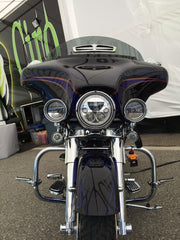 "XMC 7"" LED Headlight From Vision X Glow In Chrome or Black Chrome"