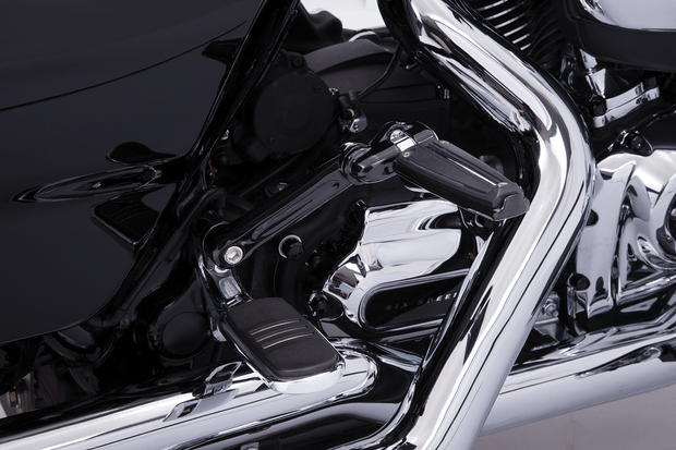Adjustable Passenger Comfort Peg Mounts in Chrome or Black