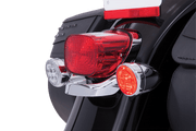 Fang RED LED Turn Signal Inserts With Chrome or Black Bezel