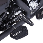 Twin Rail Floorboards With Adapters For H-D Male Mount Clevis in Chrome or Black