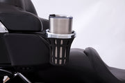 Big Ass Drink Holder with Tour-Pak Mount in Chrome or Black