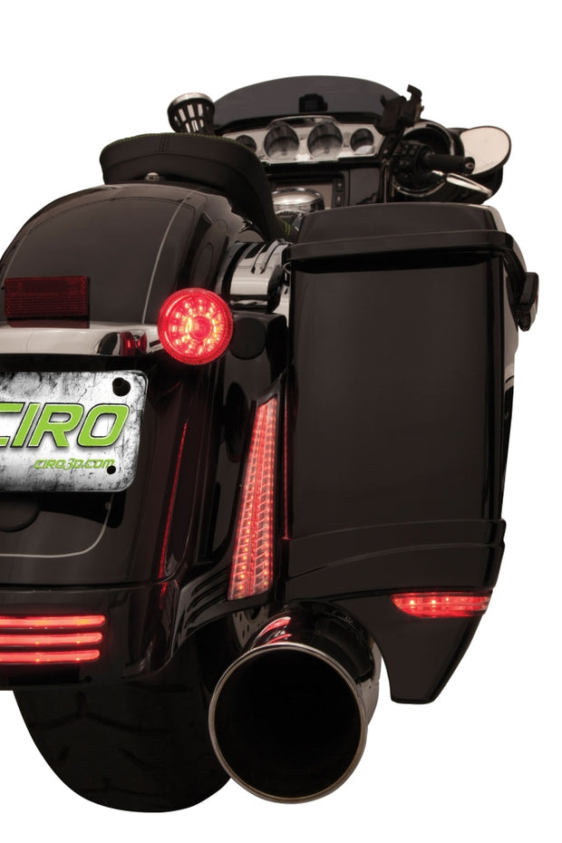 Ciro Filler Panel Lights For 06-13 Street Glide / Special Road Custom In Chrome Or Black 10-13