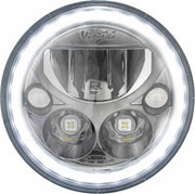 "XMC 7"" LED Headlight From Vision X In Chrome or Black Chrome"