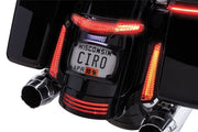 Ciro Latitude Tail Light & License Plate Holder In Chrome Or Black / 14-Newer