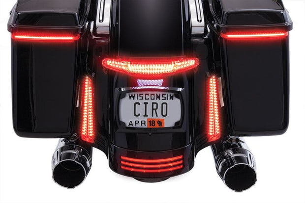 Ciro Latitude Tail Light & License Plate Holder In Chrome Or Black