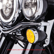 Fang Amber LED Turn Signal Inserts With Chrome or Black Bezel