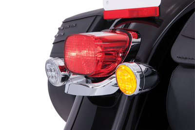 Fang Amber Led Turn Signal Inserts With Chrome Or Black Bezel Ciro