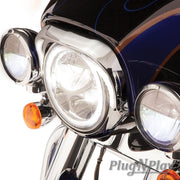 Fang Led Headlight Bezel In Chrome Or Black Ciro