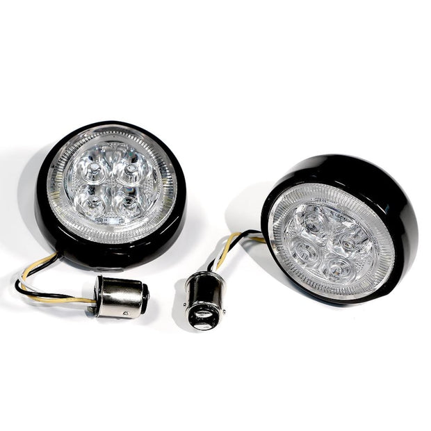 Fang Rear Signal Light Inserts With Chrome Or Black Bezel Ciro