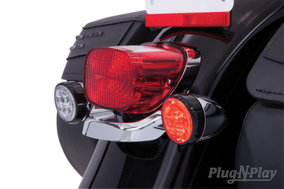 Fang Red Led Turn Signal Inserts With Chrome Or Black Bezel Ciro
