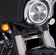 Fang White Halo Front Signal Light Inserts With Chrome Or Black Bezel Ciro