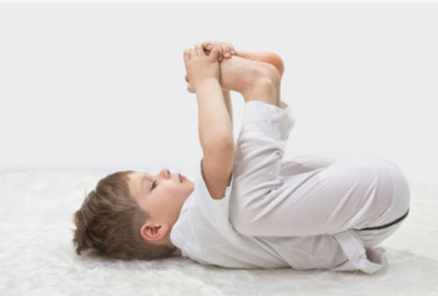easy yoga poses for kids happy baby