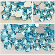 1440 pcs - Crystal AB Rhinestones, Aqua Marine Round Rhinestones for DIY Crafts, Phone, Nail Art, Jewelry Making, Clothes, Bag, Shoes, Wedding Decoration (20mm) Accessories
