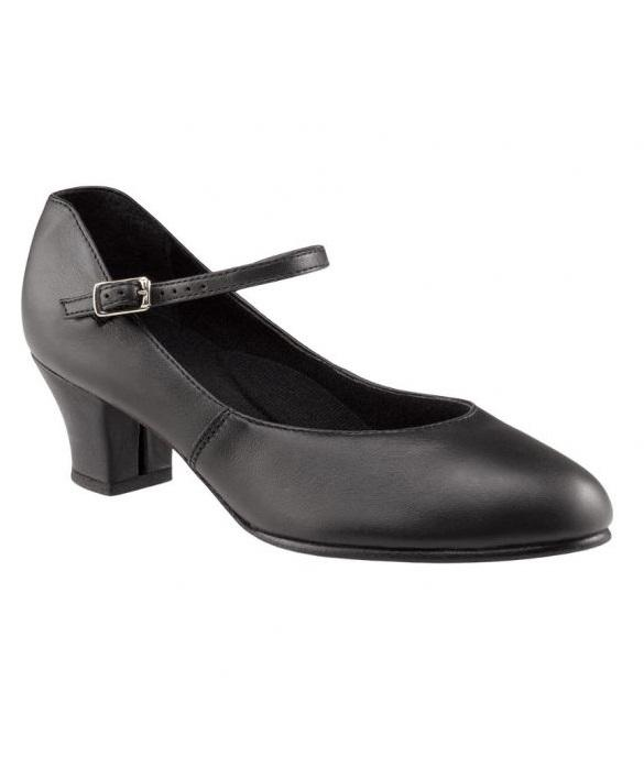 Capezio -  Leather Jr. Footlight (Black) Dance Shoes
