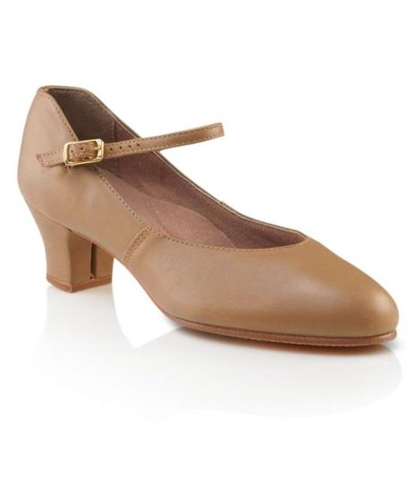 Capezio -  Leather Jr. Footlight (Caramel) Dance Shoes Aspire Dance Collections