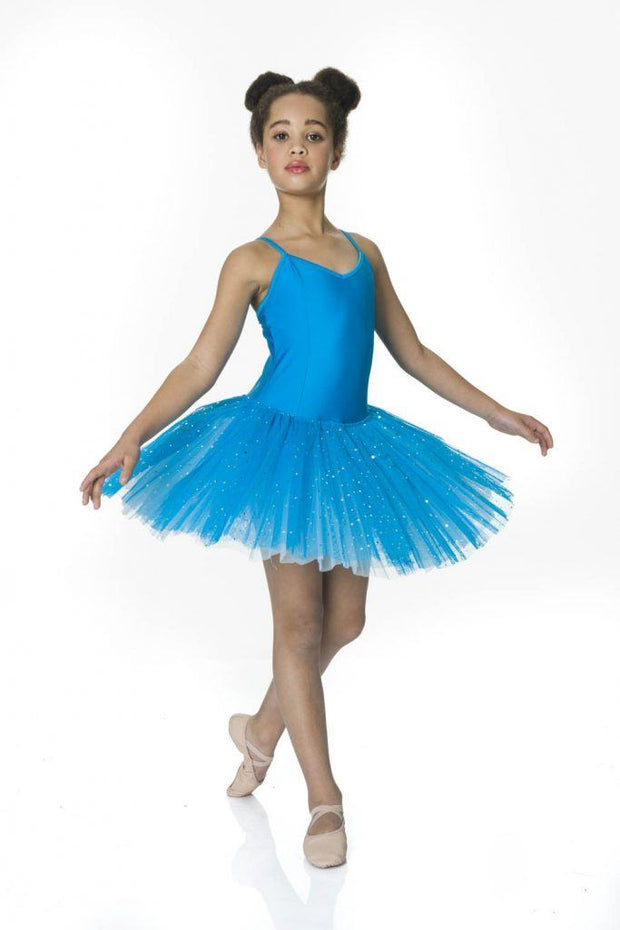 Studio 7 - Two Tone Sparkle TutuDancewearchild-x-smallTurquoise/Pale Blue