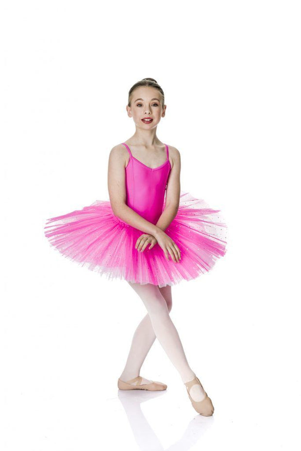 Studio 7 - Two Tone Sparkle TutuDancewearchild-x-smallHot Pink/White