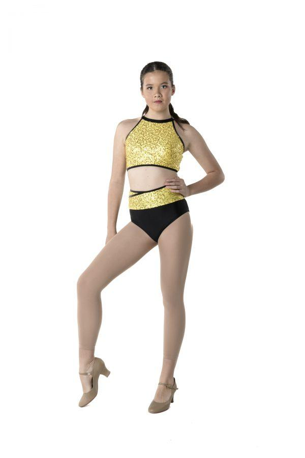 Studio 7 - Bright Lights Two Toned BriefsDancewearadult-smallYellowone size