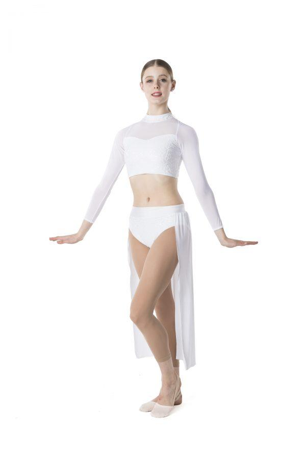 Studio 7 - Synchronise Contemporary Skirt (Adult)Dancewearadult-smallWhiteone size