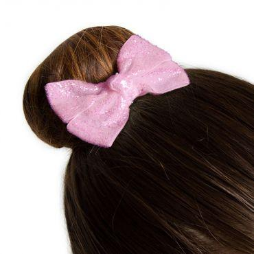 Glittered Ribbon Hair Bow Accessories