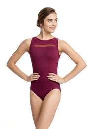 Ainsliewear - Paige with Mod DotDancewearChild SmallBurgundy