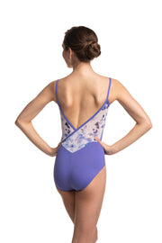 Ainsliewear - Allegra Pinch with Delphinium PrintDancewear
