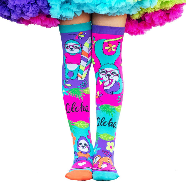 MadMia - ALOHA VIBES SLOTH SOCKS - Dancewear Crazy Socks