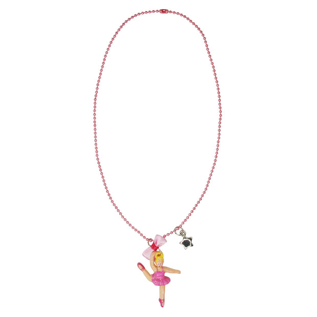 Pink Poppy -  Dancing ballerina ball chain necklace ( pk of 3 ) Accessories Aspire Dance Collections
