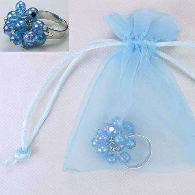Pink Poppy - Frozen blue bubble ring  Accessories Aspire Dance Collections