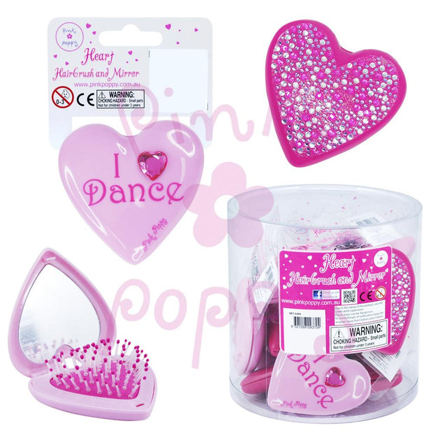 Pink Poppy - Ballet hair brush & mirror Accessories Aspire Dance Collections