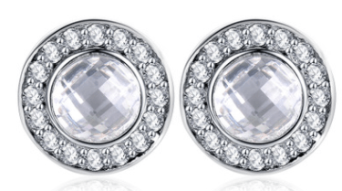 Sterling Silver Rhinestone - Earring Stud Accessories